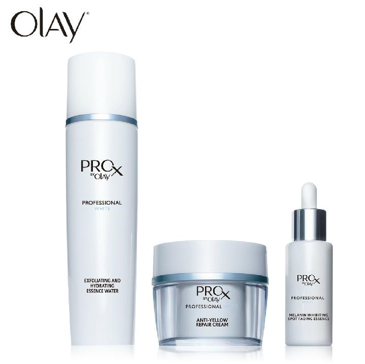 Olay玉兰油Prox纯白方程式套装(保湿高机能水+祛斑精华液+修护面霜)