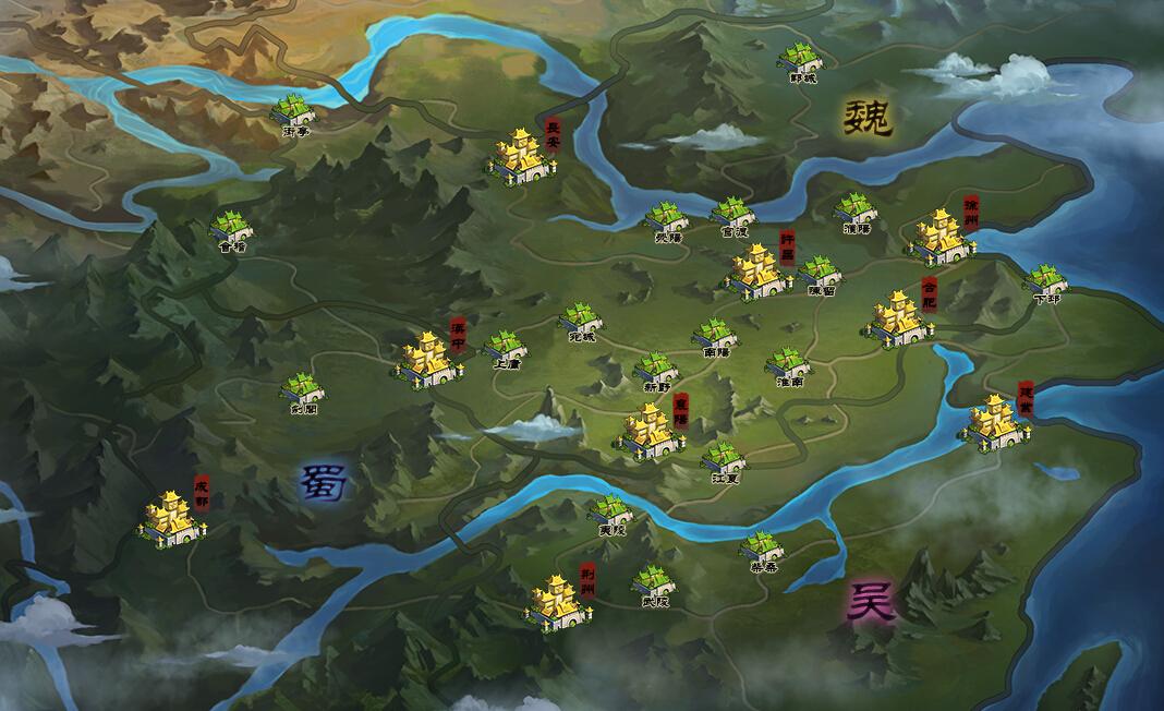 【更新】《街机三国》决战九州最新地图抢先看图片